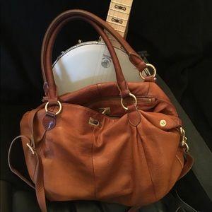 J. Crew Brompton  Brown Leather Handbag